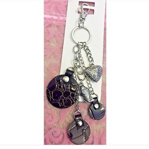 Accessories - ‼️Available NOW‼️Leather/silver charms keychain 😍